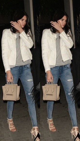 jacket jeans sandals kendall jenner
