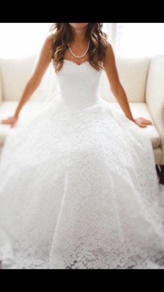 dress wedding dress lace dress sweetheart dresses white dress beautiful ball gowns jacket