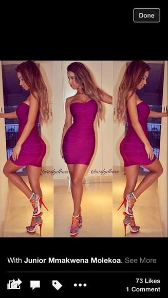 purple dress bodycon dress bandage dress tight dress