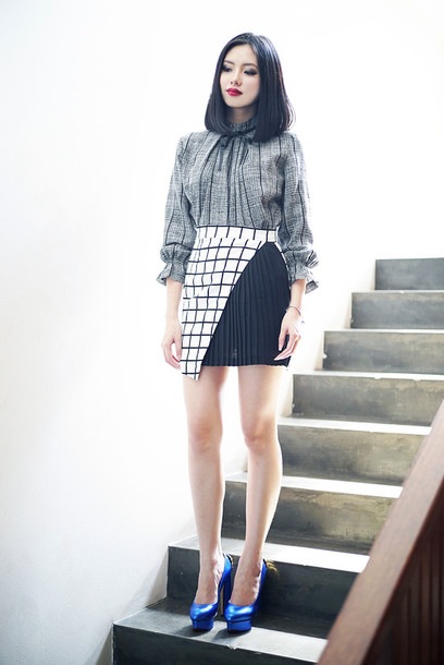olivia lazuardy blogger skirt shoes