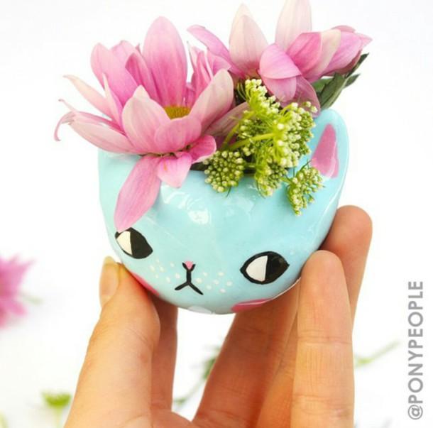 home accessory cats cats terrarium plants plant pot cute girly