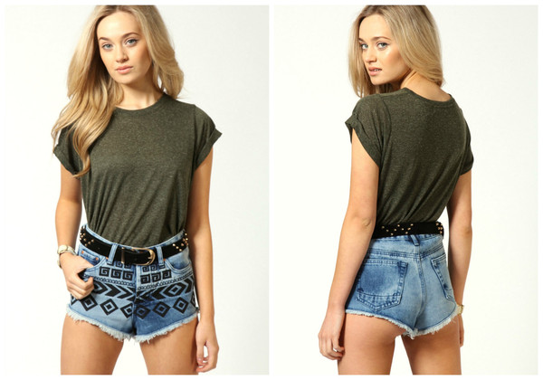 Kimberley aztec embroidered shorts – house of troika