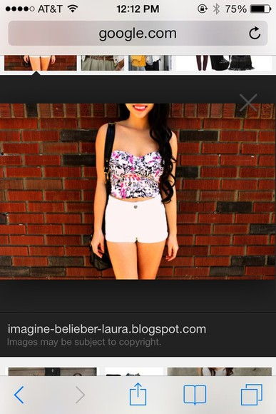 white tube top shirt floral crop tops black shorts pink hipster strapless sweetheart neckline swag
