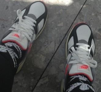 shoes black white nike nike shoes trendy fashionista new