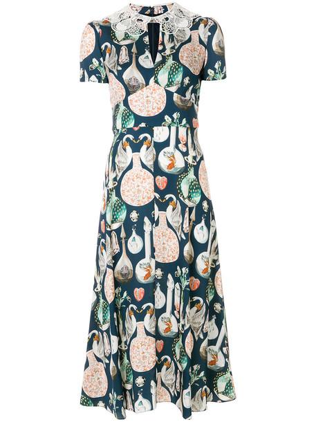 Temperley London dress midi dress women midi love blue