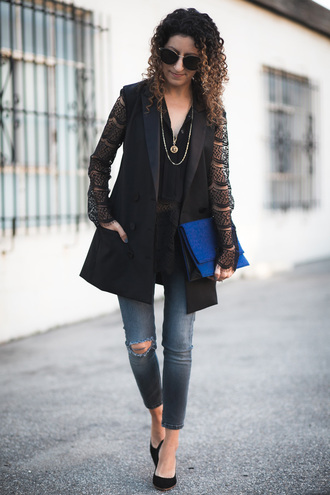 alterations needed blogger shirt jacket jeans bag shoes sunglasses jewels