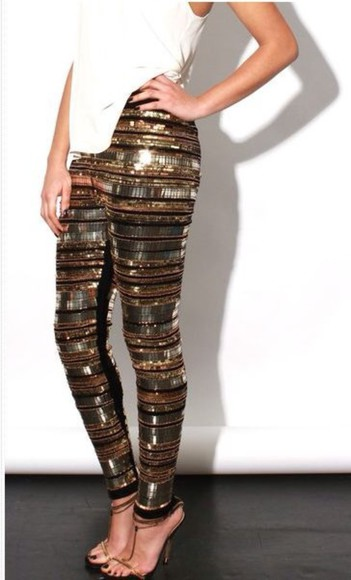 sparkly sequins pants leggings