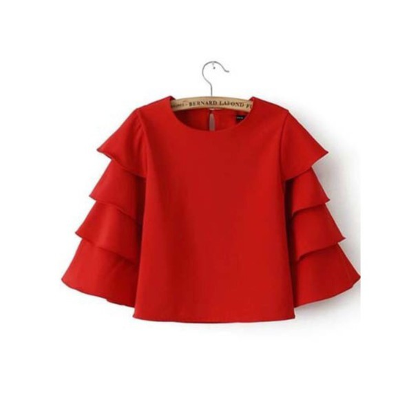 blouse red shirt t-shirt
