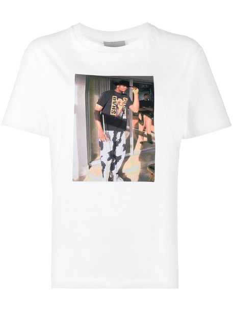 Ashley Williams t-shirt shirt t-shirt fashion women white cotton print top