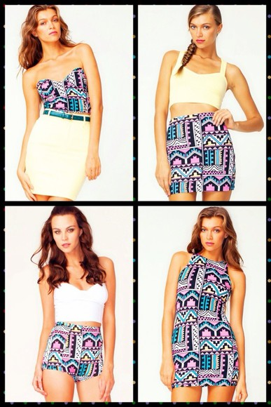 skirt aztec print skirt dress aztec print dress blouse aztec print crop top aztec print shorts shorts