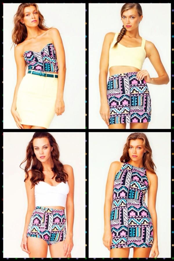 dress aztec print dress aztec print skirt aztec print crop top aztec print shorts shorts skirt blouse