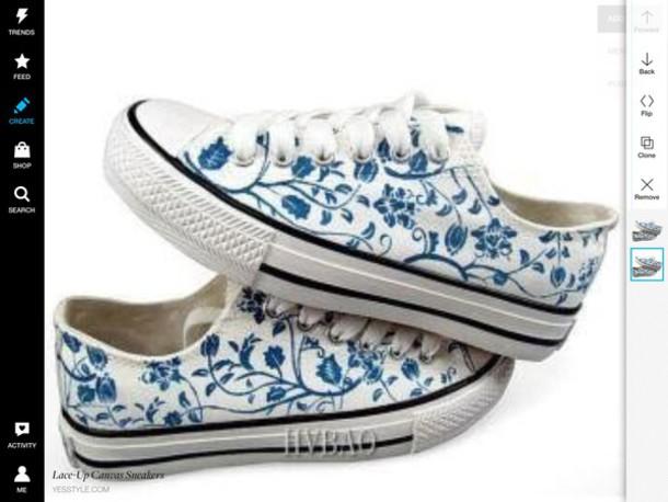 shoes converse low top whte blue floral canvas canvas sneaker converse converse
