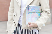 bag,silver holographic clutch,holographic,icifashion,clutch,backpack