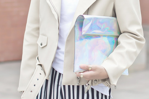 bag silver holographic clutch holographic icifashion clutch backpack