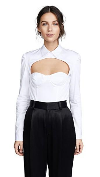 Fleur du Mal bodysuit white underwear