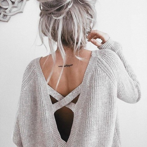 sweater backless sweater winter outfits white hair tattoo cream beige nude lulus trendy