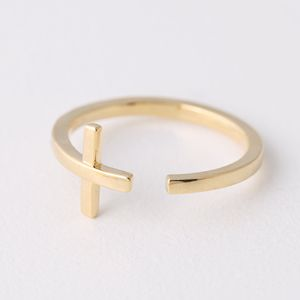 Gold Sideways Cross Wrap Around Ring from Kellinsilver.com