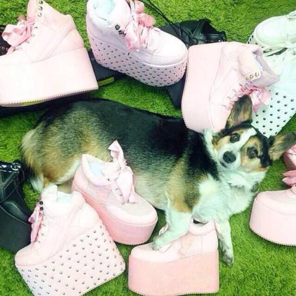 shoes pastel platform shoes