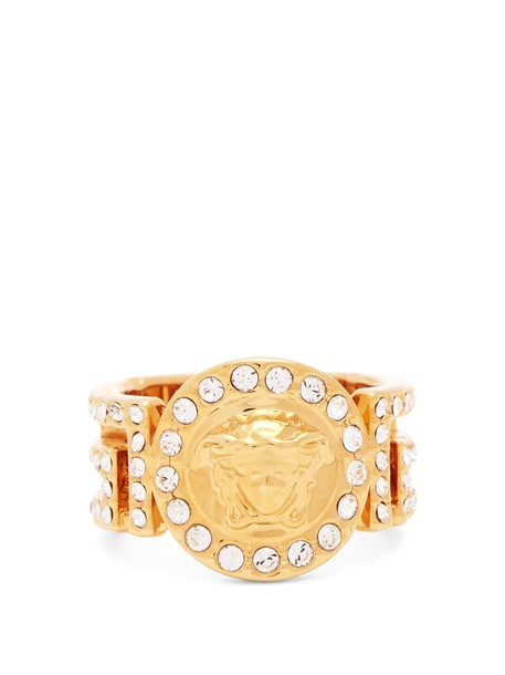 VERSACE embellished ring gold jewels