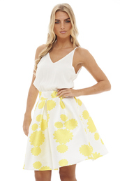dress,floral,yellow dress,2 in 1,summer,day dress