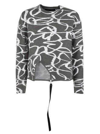 sweater white grey