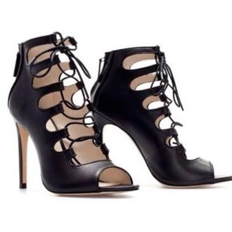 shoes black lace up heels zara shoes zara high heels sandals shoes