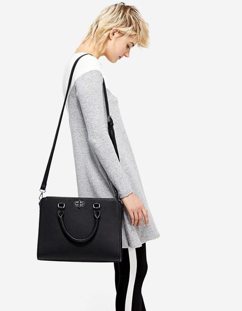 Stradivarius bag tote bag black