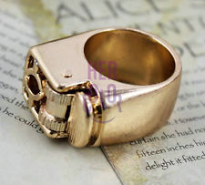 17mm decorative finger lighter ring punk vintage retro steampunk novelty gift
