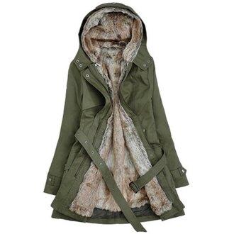 coat outwear khaki hooded