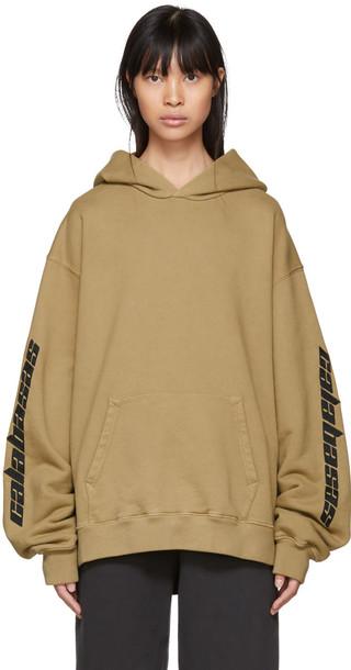 yeezy hoodie khaki sweater