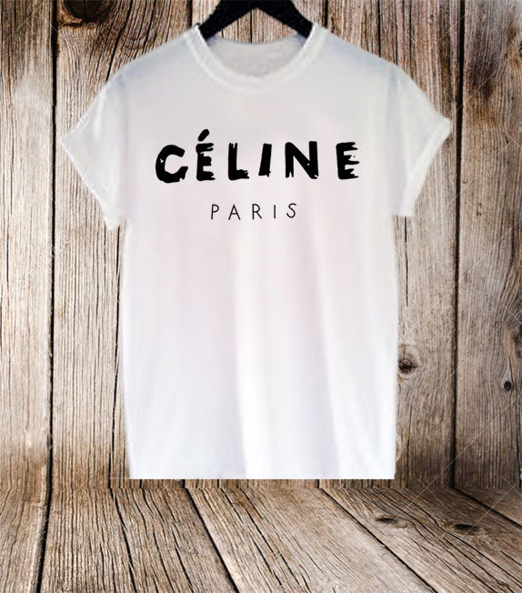 CELINE PARIS T SHIRT 100% Cotton | eBay