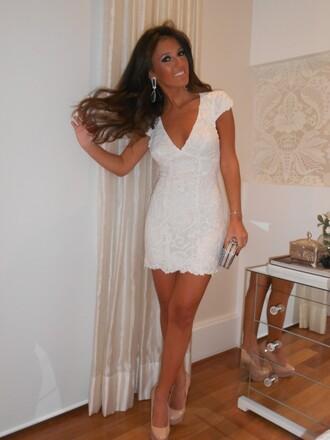 dress white dress white ivory rehersal dinner