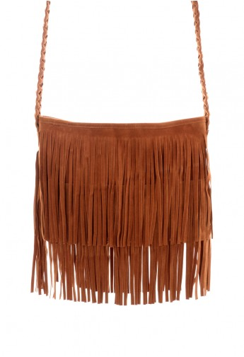 Fringe Knit Strap Shoulder Bag - Retro, Indie and Unique Fashion