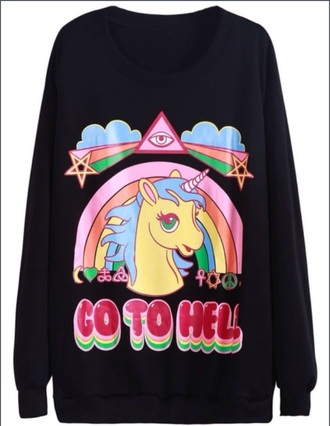 go to hell unicorn sweater