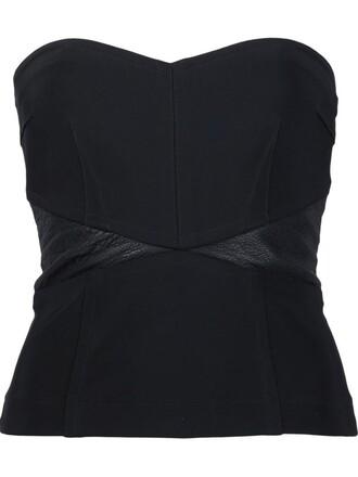 bustier strapless black top