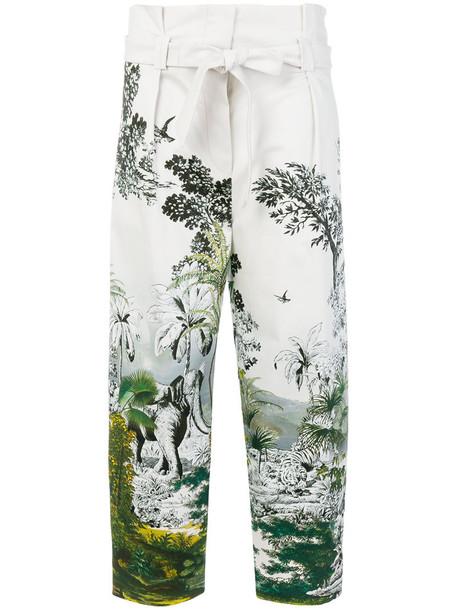 women nude cotton print pants