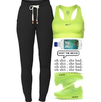 shoes nike air nikes nike sneakers lime green lime shoes lime green shoes lime sneakers lime green sneakers nike sports bra nike bra cute girly ootd nike sportswear sports bra sports shoes sweatpants sweater workout work out clothing clothes fiji pants lounge wear black pants outfit outfit idea bra leggings top
