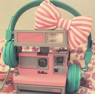 home accessory polaroid camera photography pastel girly