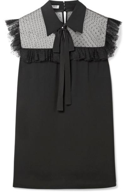 Miu Miu blouse bow black top