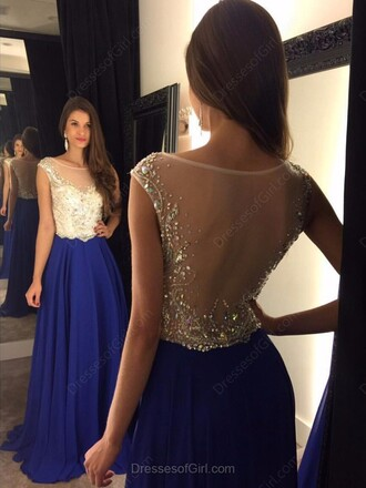 dress blue fashion sparkle prom elegant formal gown beautiful dressofgirl
