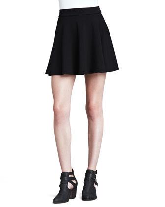 Splendid Stretch Knit Flare Skirt - Neiman Marcus