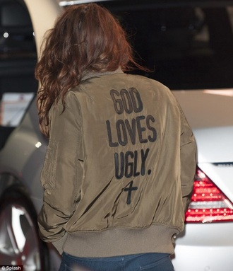 jacket kristen stewart love cross quote on it army green jacket