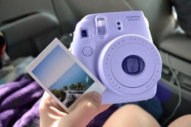 home accessory polaroid camera camera phone cover blue