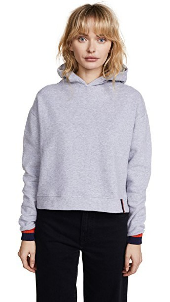 kule hoodie navy grey sweater