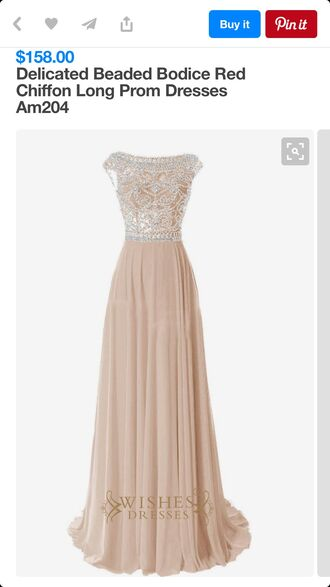 dress am204 beaded scoop neck chiffon nude dress long dress prom dress long prom dress sequin prom dress chiffon prom dress prom dress 2016 evening dress long evening dress evening outfits formal dress formal event outfit