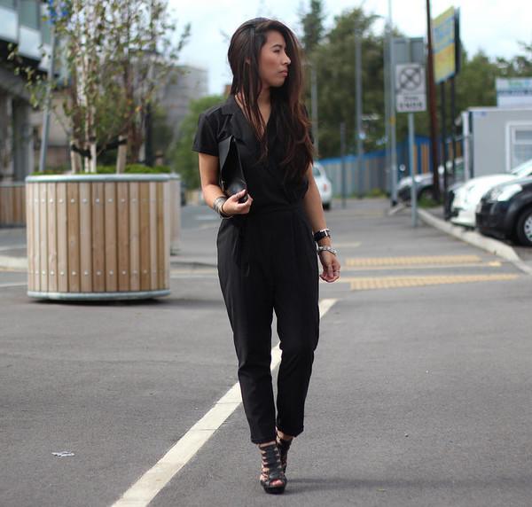 article 21 blogger jumpsuit bag shoes jewels