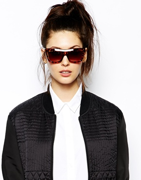Vans | Vans Square Cat Eye Sunglasses in Tourtoise Shell Effect at ASOS