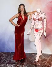 dress,red dress,alessandra ambrosio,prom dress,gown