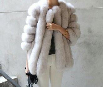 coat white faux fur fur fashion black fur coat