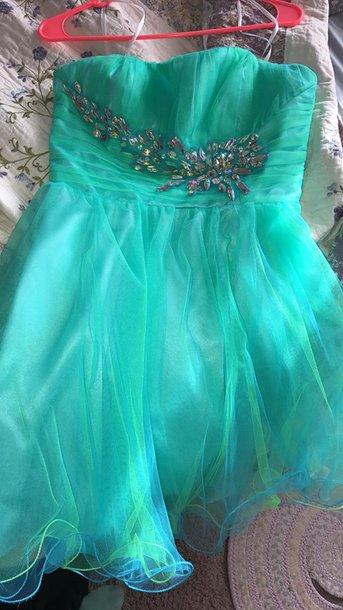 dress blue dres blue dress teal dress teal short dress prom dress homecoming dress tulle dress tulle skirt